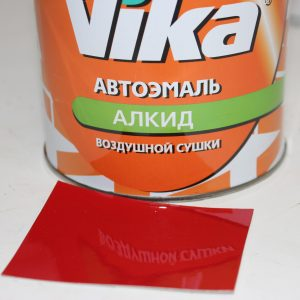 Краска Vika алкид красная однокомпонентная 0,8 л