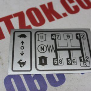 Наклейка КПП малая (на приборную панель)